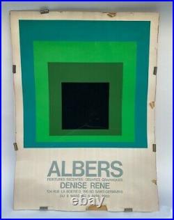 Affiche Hommage Au Carre Josef Albers Denise Rene 1968 Arcay 2 Edition M178