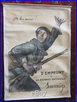 Affiche ORIGINALE de 1916 par A. Faivre Première guerre mondiale 14/18. WW1
