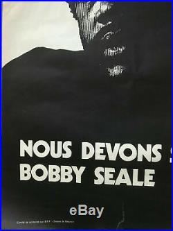 Affiche Originale BLACK PANTHER PARTY BOBBY SEALE 1970 France Simone De Beauvoir