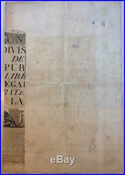 Affiche Ou Placard De La Revolution Française Calendrier An 2e De La République
