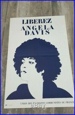 Affiche / Poster communiste LIBEREZ ANGELA DAVIS FREE 70'S BLACK PANTHERS