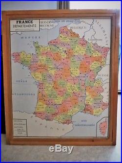 Affiches scolaires Rossignol série complète + cadre. Cartes de France géographie