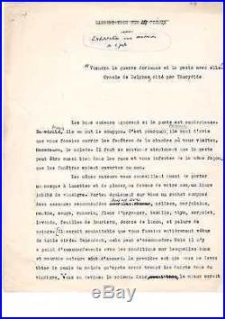 Albert Camus / La Peste / Manuscrit Préparatoire / (1941) / Autographe