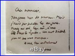 Albert Camus / Lettre Autographe Signée (1950)