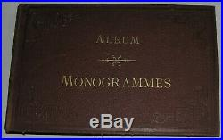 Album MONOGRAMMES. Garnier, Lafitte, Walesha, Hausman, Nizas, Bonnafé, Magenta. XIXè