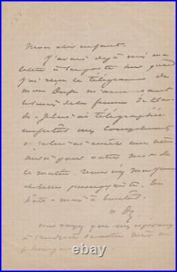 Alexandre DUMAS fils Lettre autographe signée Eleonora Duse
