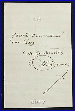 Alexandre DUMAS père autographe