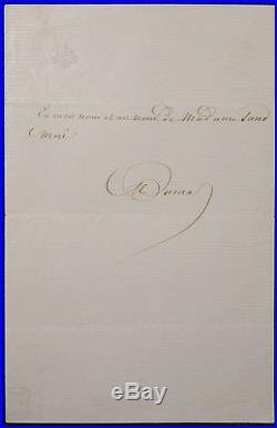 Alexandre DUMAS père autographe / George SAND
