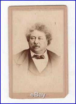 Alexandre Dumas / Photographie (1860) / Format Carte De Visite / Reutlinger