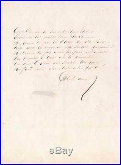 Alexandre Dumas / Poeme Autographe Signé / Esprit Du Ciel