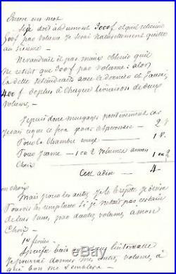 Alexandre Dumas /lettre Autographe (1845) / Alexandre Bixio / Littérature