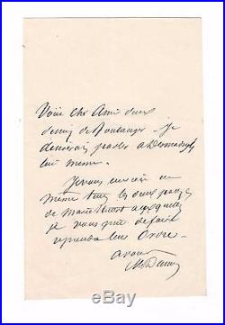 Alexandre Dumas /lettre Autographe Signée / Louis Boulanger