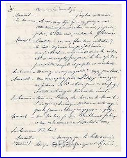 Alfred De Musset / Manuscrit Autographe D'une Pièce De Thétre