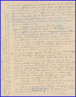 Alfred-Georges HOEN (1869-1954), peintre lettre illustrée aquarelle 1847 Melcher