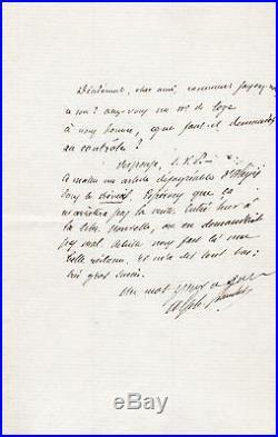Alphonse DAUDET Lettre Autographe signée / Paul Alexis