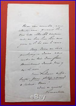 Alphonse de LAMARTINE Lettre autographe signée