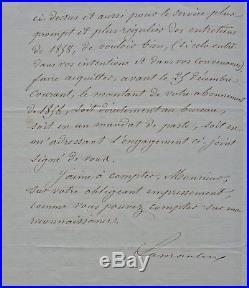 Alphonse de LAMARTINE autographe