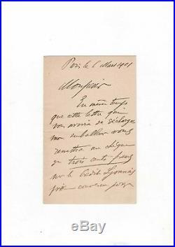 Ambroise Vollard / Lettre Autographe (1901) / Les Baigneuses De Félix Vallotton