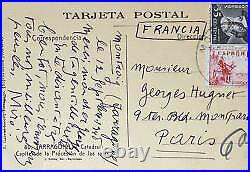 Amicales pensées de Joan Miro à Georges Hugnet