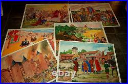 Ancienne Affiche Scolaire- Editions Rossignol-lot De 6