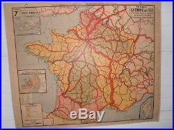 Ancienne Carte Scolaire N 7 Chemin De Fer