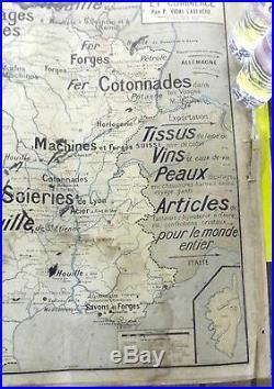 Ancienne Carte Scolaire VIDAL LABLACHE France Élevage Culture Industrie N°8