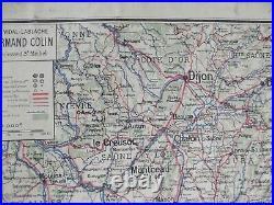 Ancienne Carte Vidal lablache n°64 Région Alpes Françaises Méditerranéenne Corse