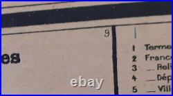 Ancienne carte scolaire Vidal Lablache n°45DELTA DU TONKIN-INDOCHINE DU NORD