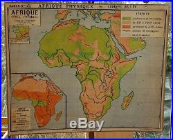 Ancienne carte scolaire géographie hatier Afrique