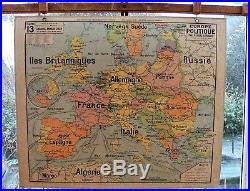 Ancienne carte scolaire géographie vidal lablache Colin 13 Europe politique