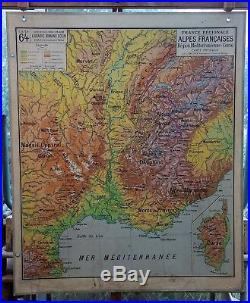 Ancienne carte vidal lablache Colin 64 France Alpes Méditerrannée sud