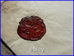 Ancienne lettre de 1663 deux cachets en cire Commandant du Roi