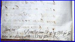 Angoulême 1644 Lettre autographe de LOUIS DE VALOIS au Cardinal Mazarin
