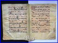 Antiphonaire sur parchemin (4pages en grand format)