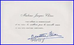 Ar68-litho-originale-j. M Folon-signée-bernadette Jacques Chirac-1987