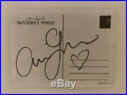 Ariana Grande Signed Postcard