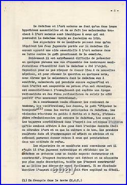 Art Richard Huelsenbeck Manifeste Dada 1949 Tzara Motherwell