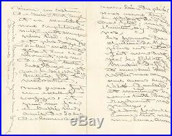 Art Rosa Bonheur lettre autographe signée 1898 Anna Elizabeth Klumpke