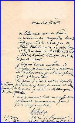 Auguste Rodin Lettre Autographe À Camille Pissarro (1894 / Durand-ruel)