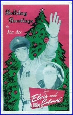 Authentique et Rarissime Autographe Signed ELVIS PRESLEY sur Carte Vintage 1959