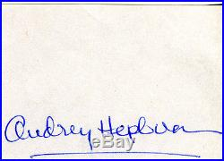 Autograph Audrey Hepburn Original Rare