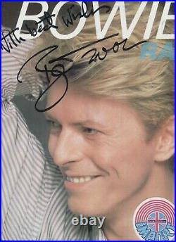 Autograph Signed DAVID BOWIE sur Pochette LP 33T IMPORT Année 1982