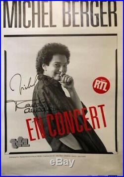 Autographe Autographes originaux de Michel Berger et France Gall Affiche
