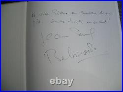 Autographe Dédicace EXCEPTIONNELS de JEAN PAUL BELMONDO à Pierre TCHERNIA Livre