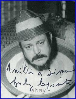 Autographe Dédicace ORIGINAL de BOBY LAPOINTE sur Photo Carte + Photo de presse