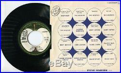 Autographe Dédicace ORIGINAL de GEORGE HARRISON BEATLES sur Pochette EP 45T 1971