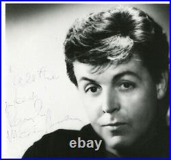 Autographe Dédicace ORIGINAL de PAUL Mc CARTNEY sur Photo George Hurrell 1986