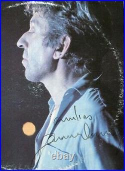 Autographe Dédicace ORIGINAL de SERGE GAINSBOURG sur Pochette 2xLP 33T 1986