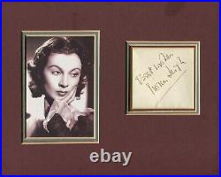 Autographe Dédicace ORIGINAL de l'Actrice VIVIEN LEIGH Framed Photo 20x25