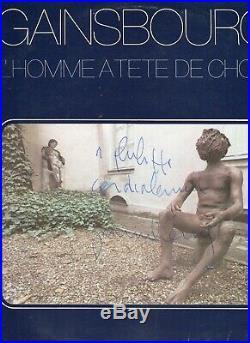 Autographe Dédicace ORIGINAL du Compositeur SERGE GAINSBOURG sur Pochette LP33T